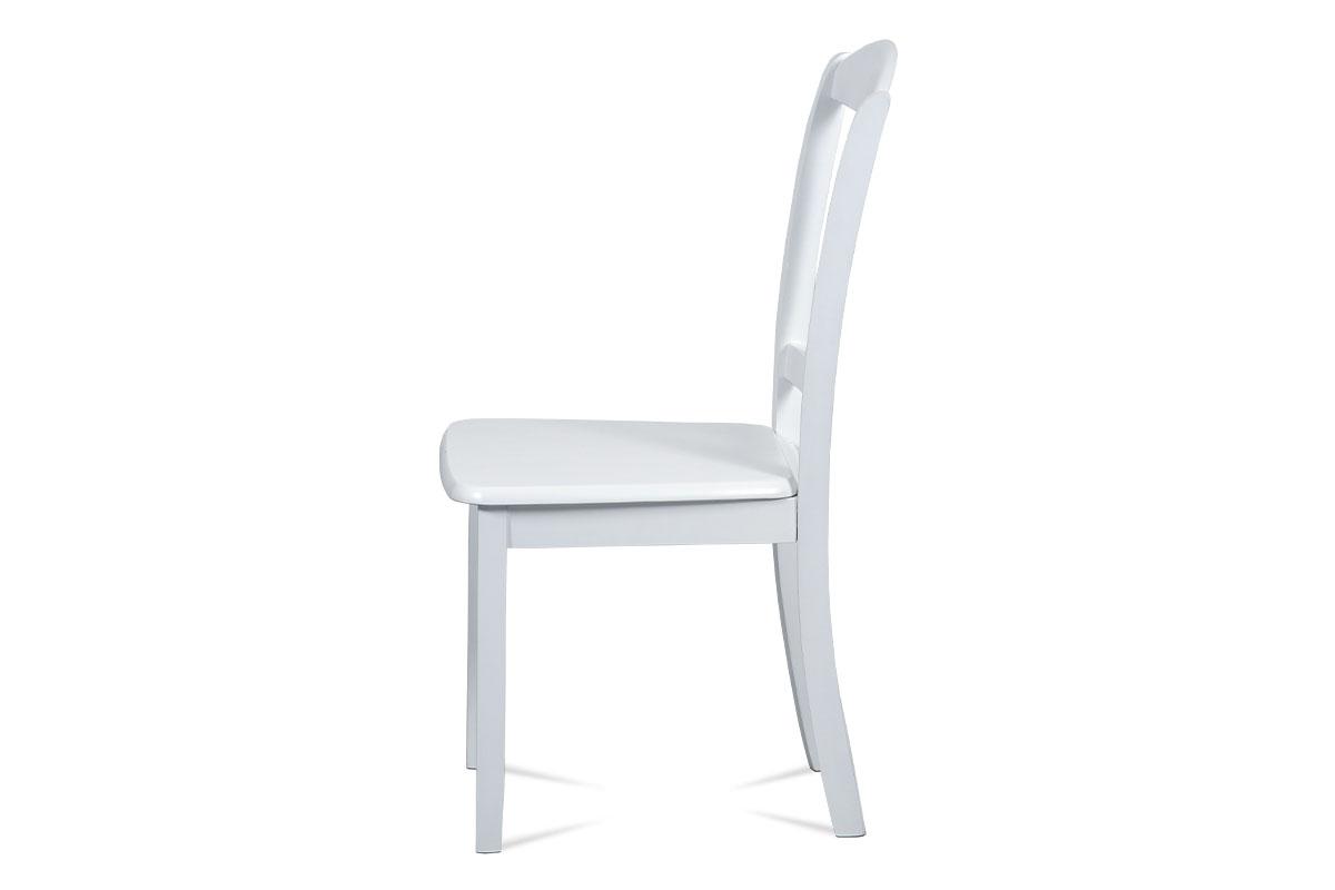 Jídelní židle celodřevěná, bílý matný lak - SAVANA WT