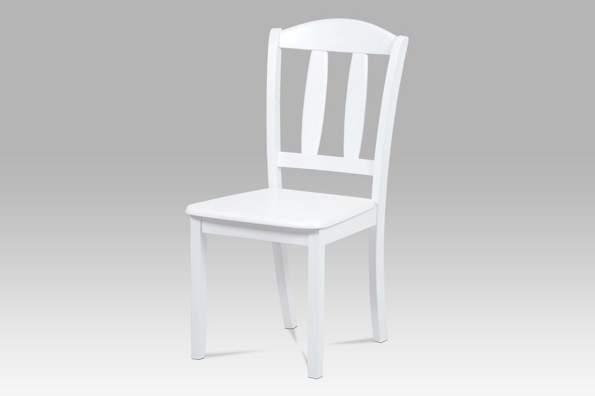 Autronic - Jídelní židle celodřevěná, barva bílá - SAVANA WT