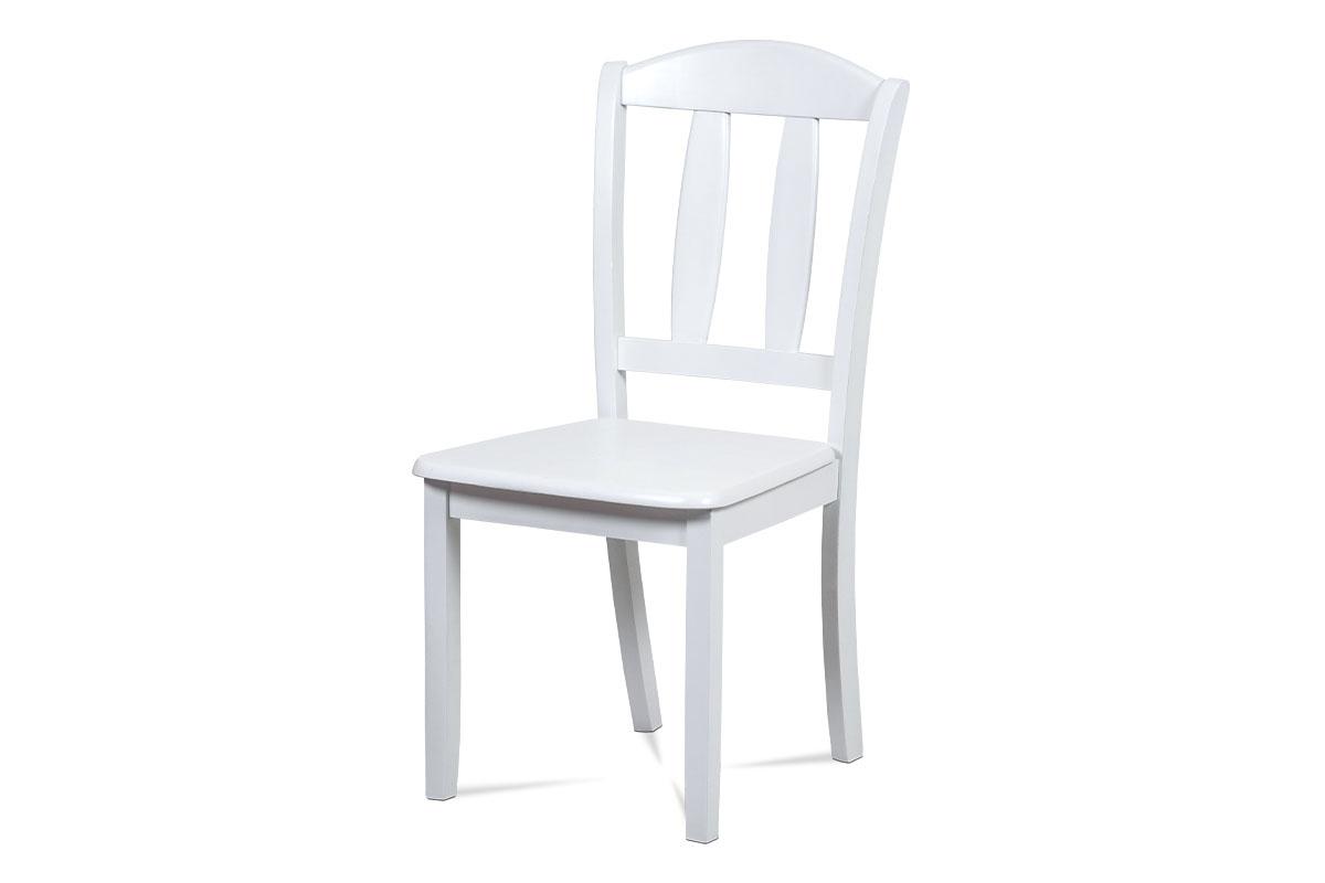 Autronic - Jídelní židle celodřevěná, bílý matný lak - SAVANA WT