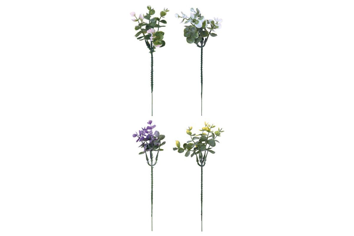 Autronic - Eucalyptus barevný. Květina umělá plastová. - SG666538