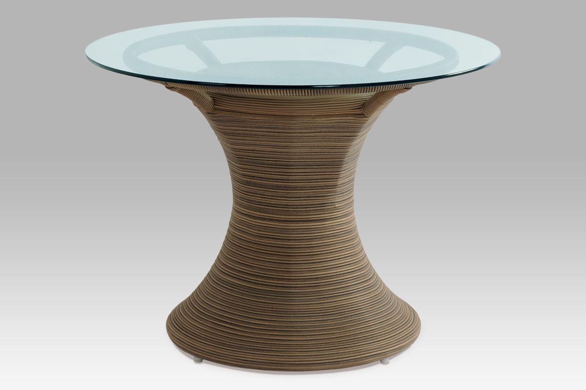 Autronic - Jídelní stůl, umělý ratan BEZ SKLA - SOF048