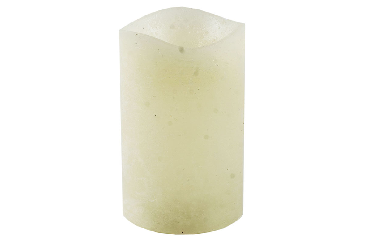 Autronic - Svícen ve tvaru svíčky, s LED světlem, plast potažený voskem, barva krémová - SVW1225