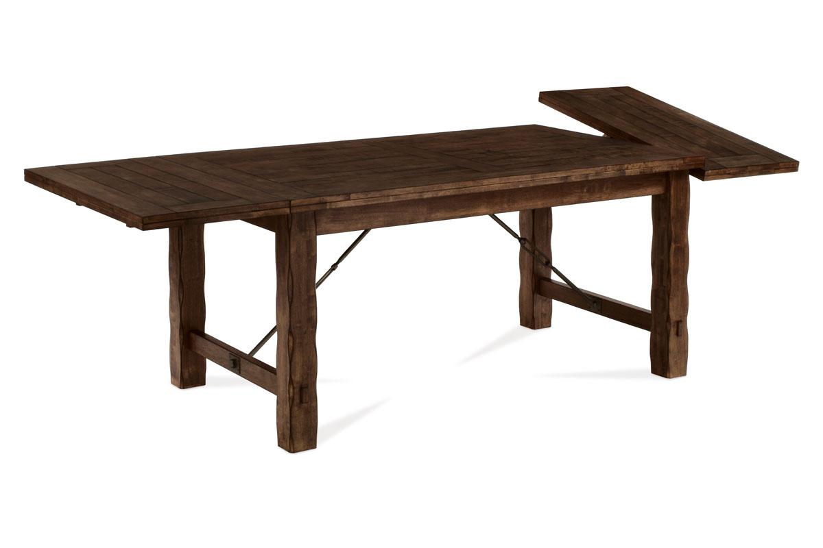 Autronic - Jídelní stůl rozkládací 160+45+45x95 cm, ořech - T-1920 WAL