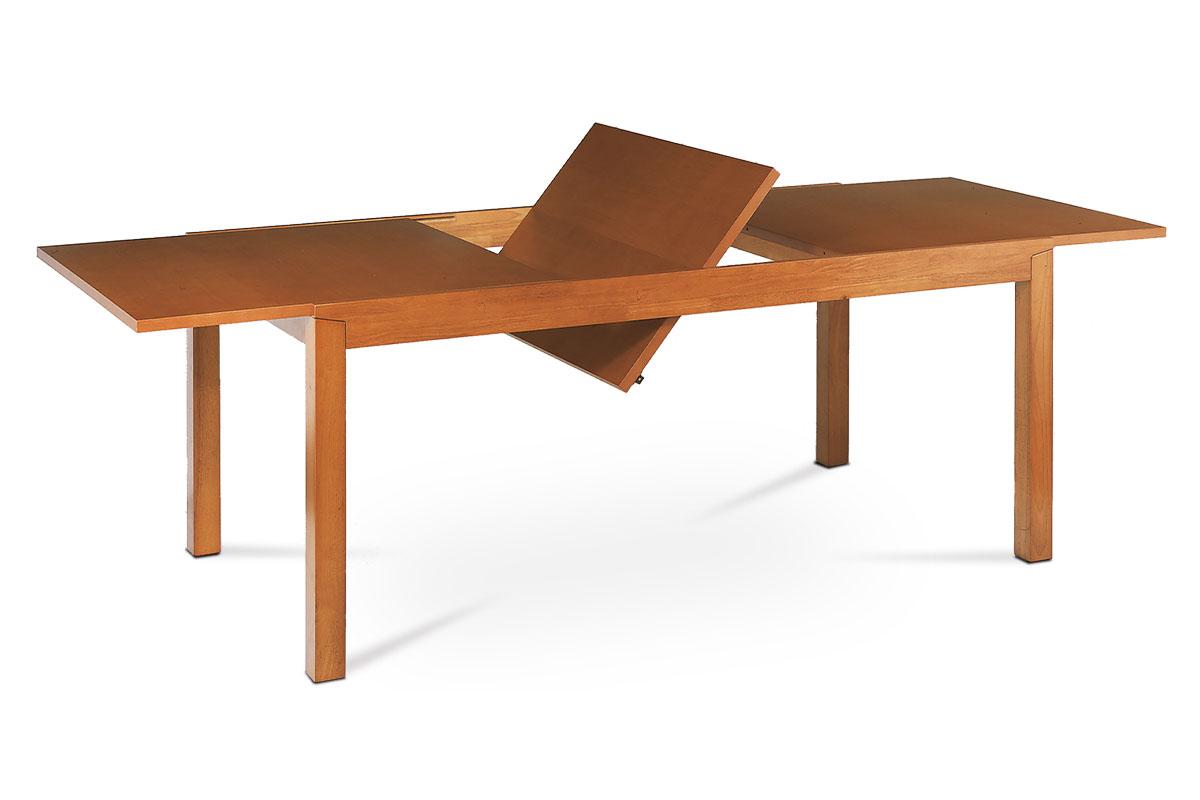 Autronic - Jídelní rozkládací stůl, 180+58x95x75 cm, MDF, přírodní dýha, moření světlá třešeň - T-4696 TR