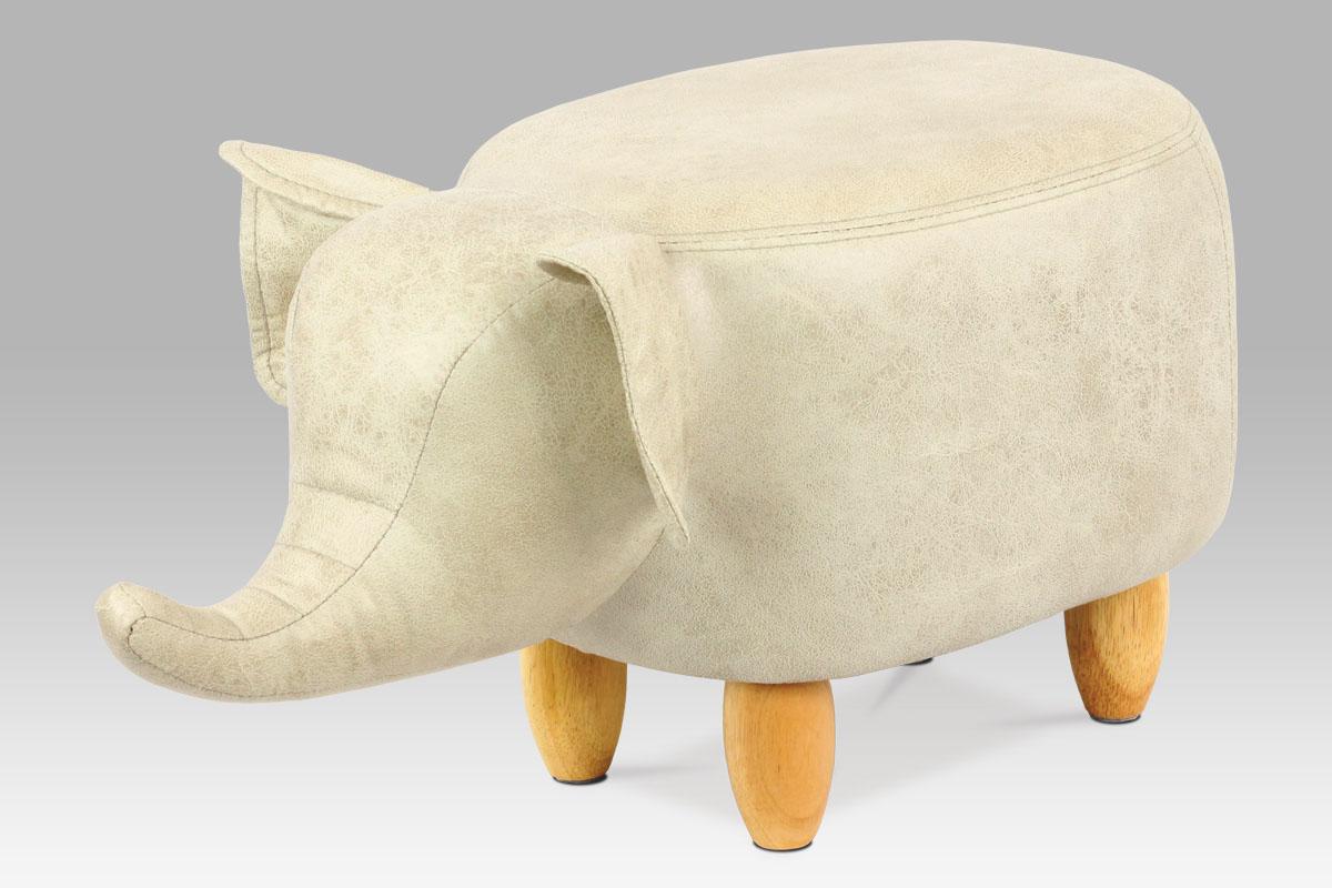 Autronic - Taburet slon, látka, masiv - TAB-202