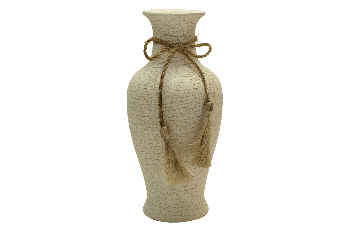 Autronic - Váza keramická - bílá - TD-0494