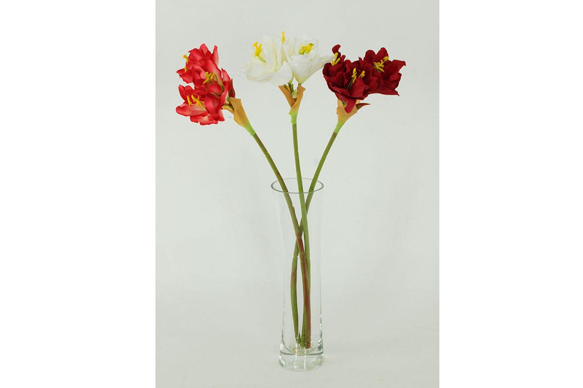 Amarilis, mix barev. Květina umělá.