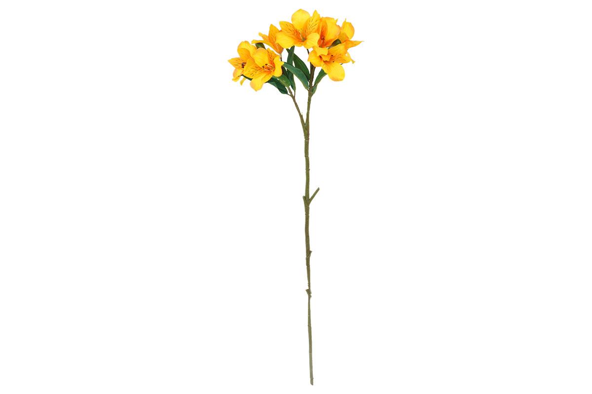 Alstromeria, barva žluto-oranžová. Květina umělá.
