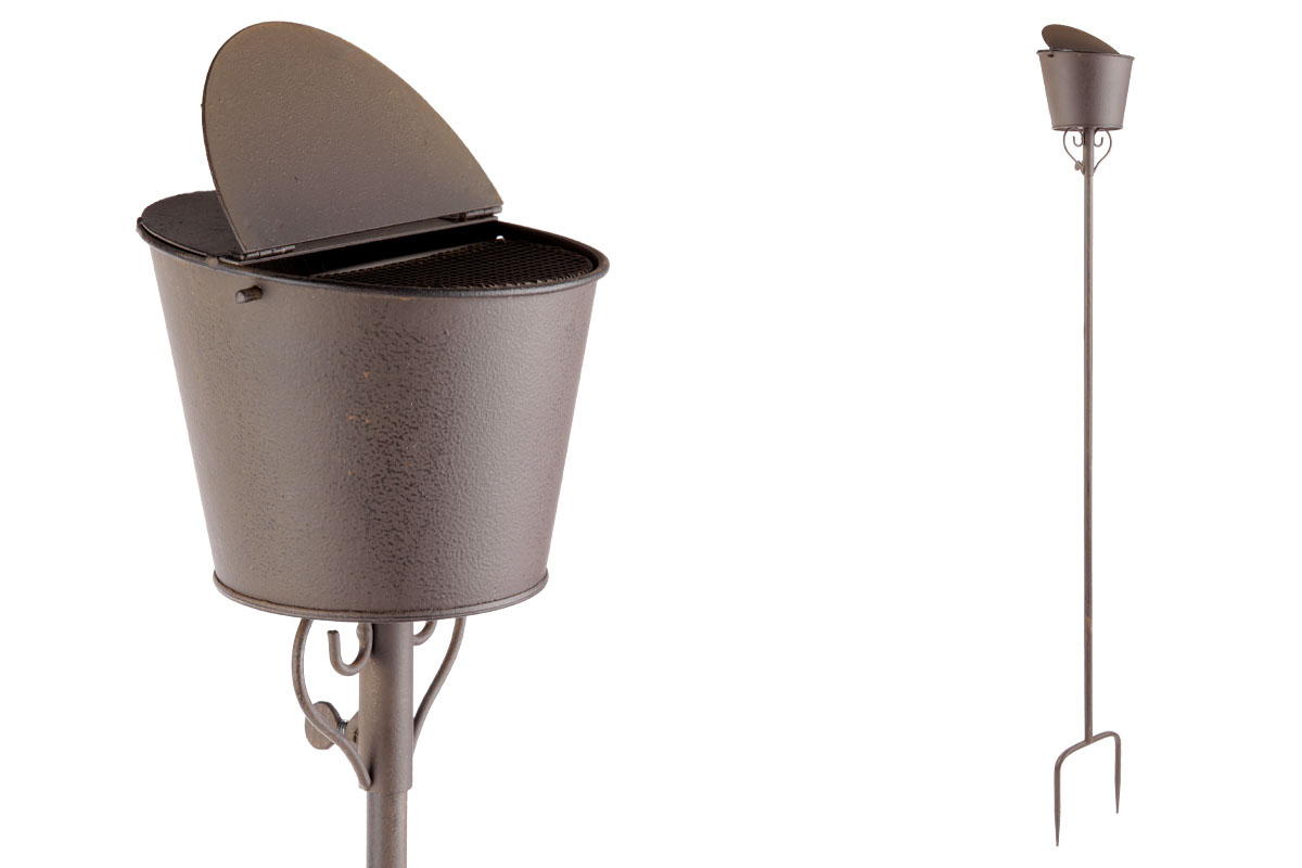 Autronic - Popelník, kovová dekorace na zapíchnutí do zahrady - UM0755