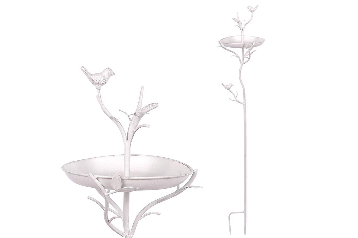 Autronic - Krmítko, kovová dekorace na zapíchnutí do zahrady - UM0759-WH