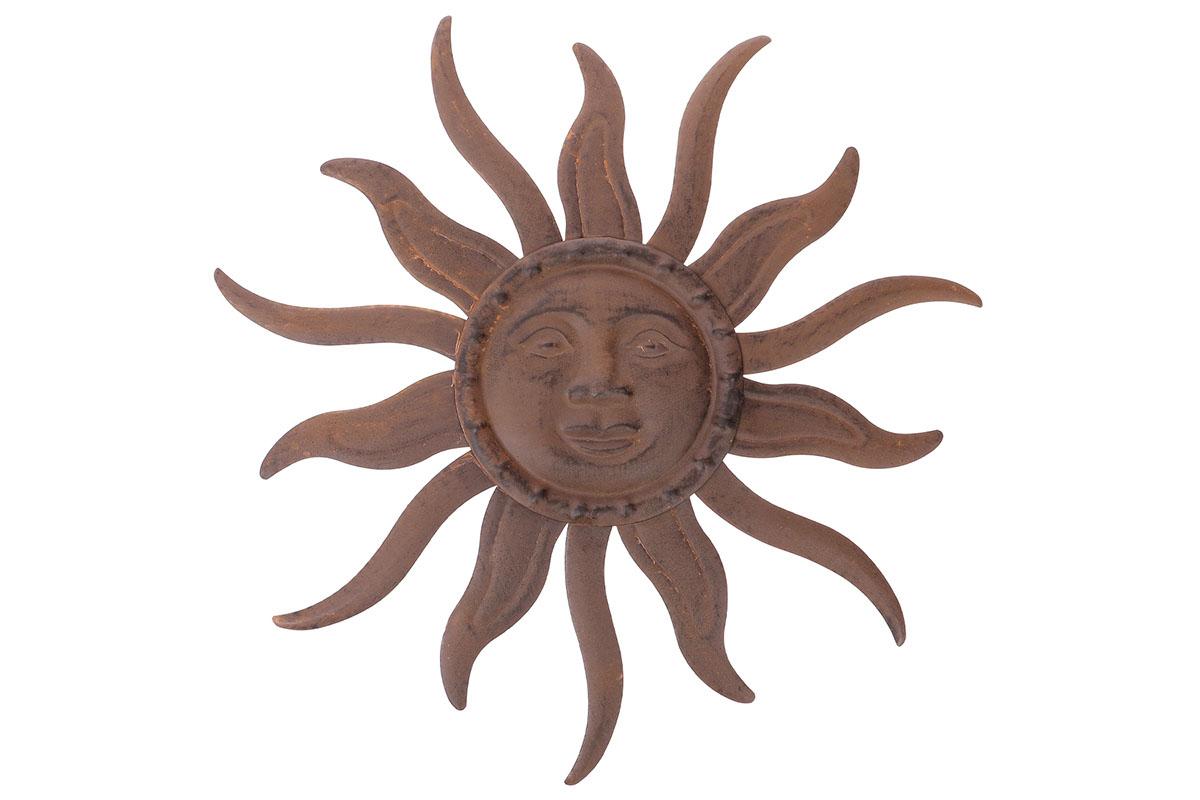 Autronic - Slunce, kovová dekorace na zavěšení, barva hnědá - UM0769-BR