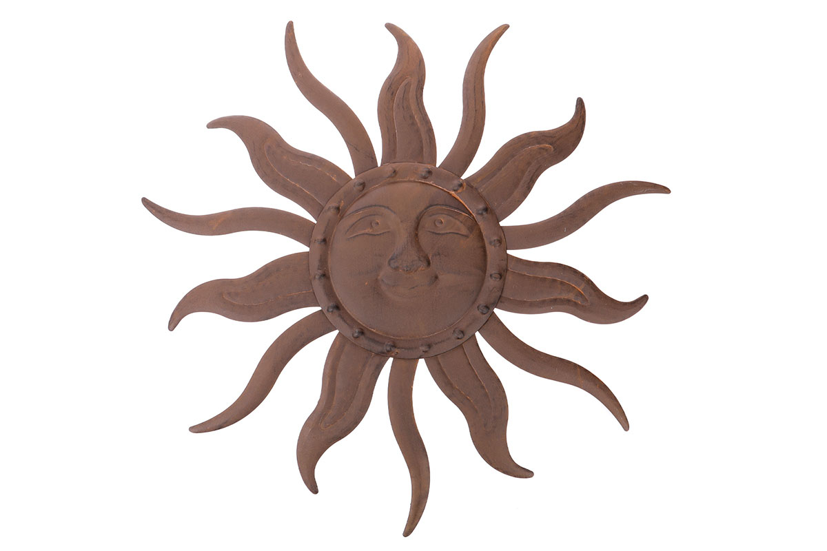 Autronic - Slunce, kovová dekorace na zavěšení, barva hnědá - UM0820