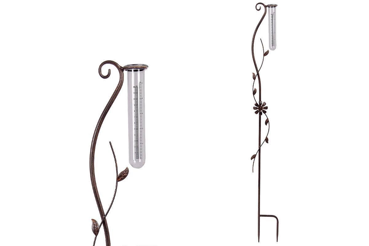 Autronic - Srážkoměr, kovová dekorace na zapíchnutí do zahrady - UM0831