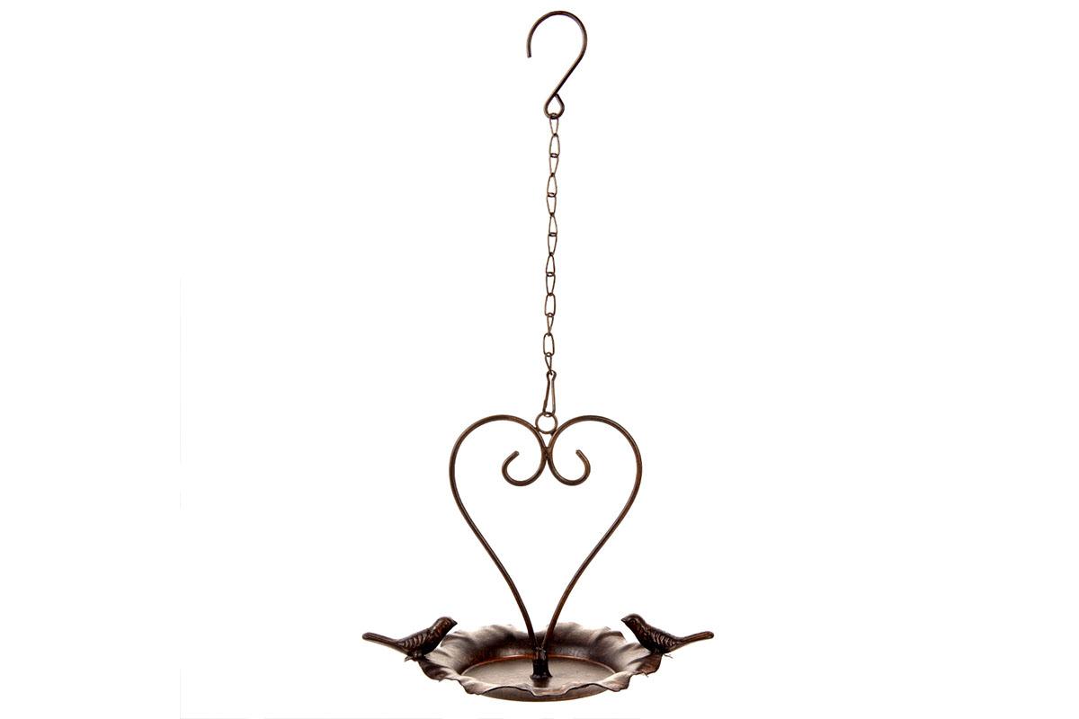 Autronic - Krmítko na pověšení, ve tvaru srdce. Kovová zahradní dekorace. - UM0835