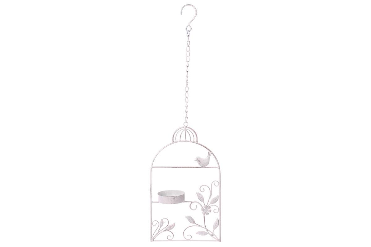 Autronic - Krmítko pro ptáčky, tvar ptačí budky. Kovová zahradní dekorace na pověšení. - UM0838