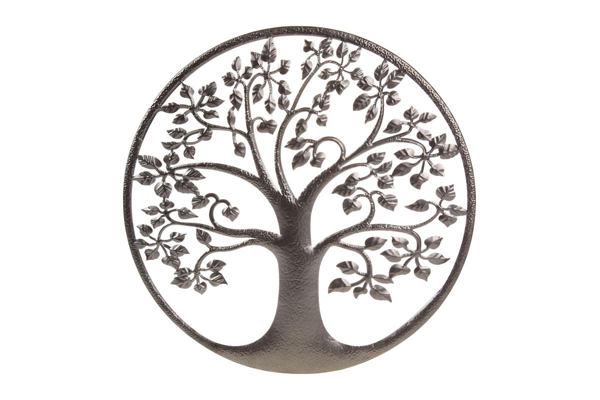 Autronic - Strom života, kovová nástěnná dekorace. - UM0844-BR