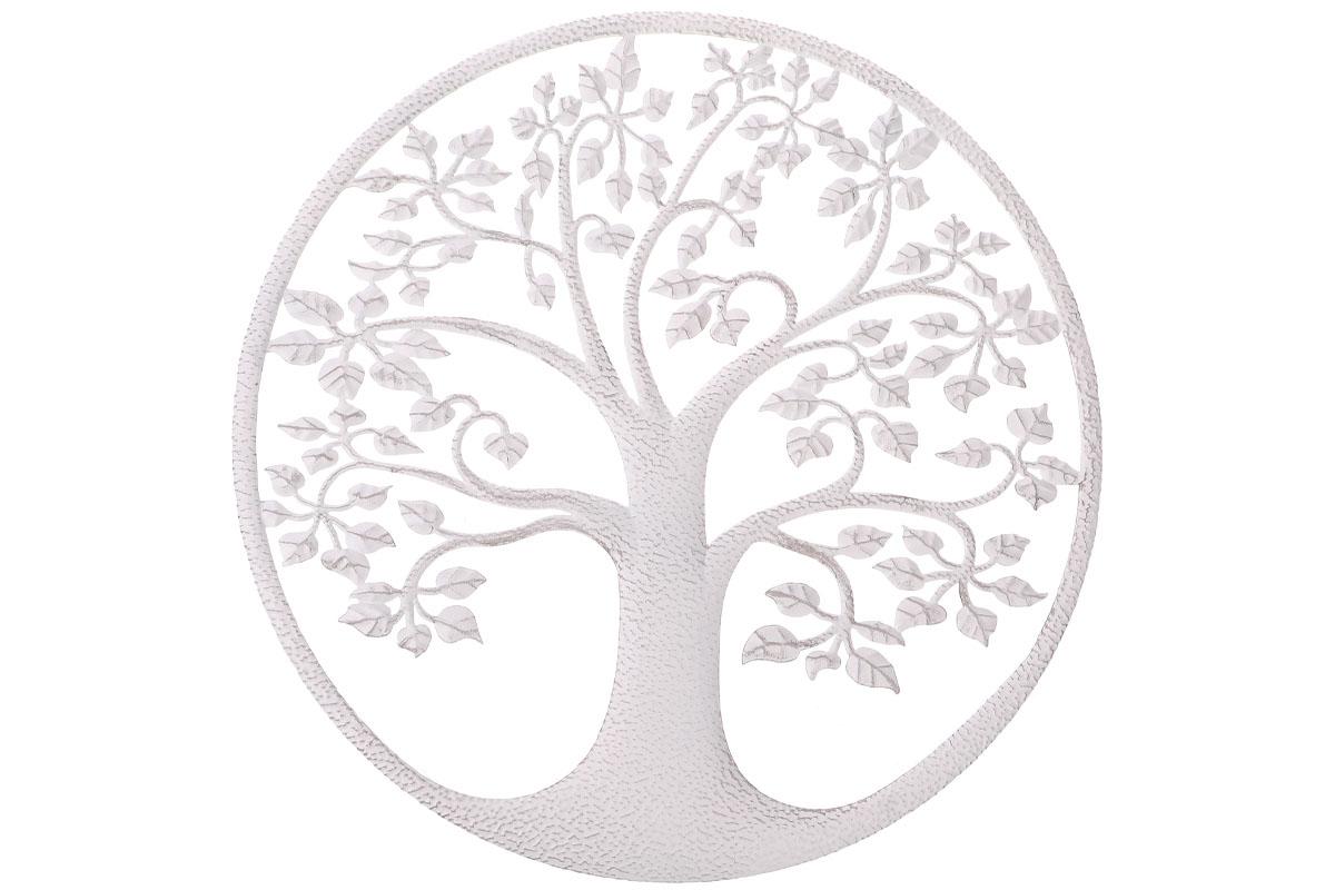 Autronic - Strom života, kovová nástěnná dekorace. - UM0844-WH