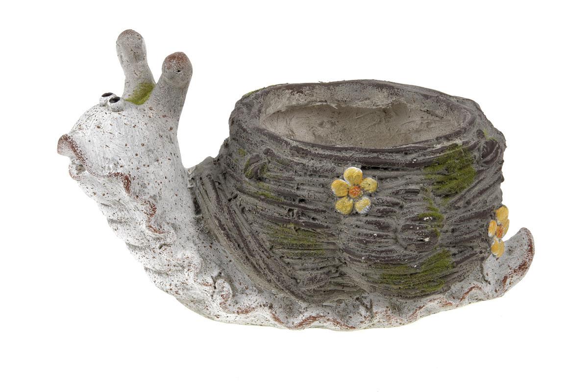Autronic - Šnek,dekorace z MgO keramiky s otvorem na květináč - VN7374
