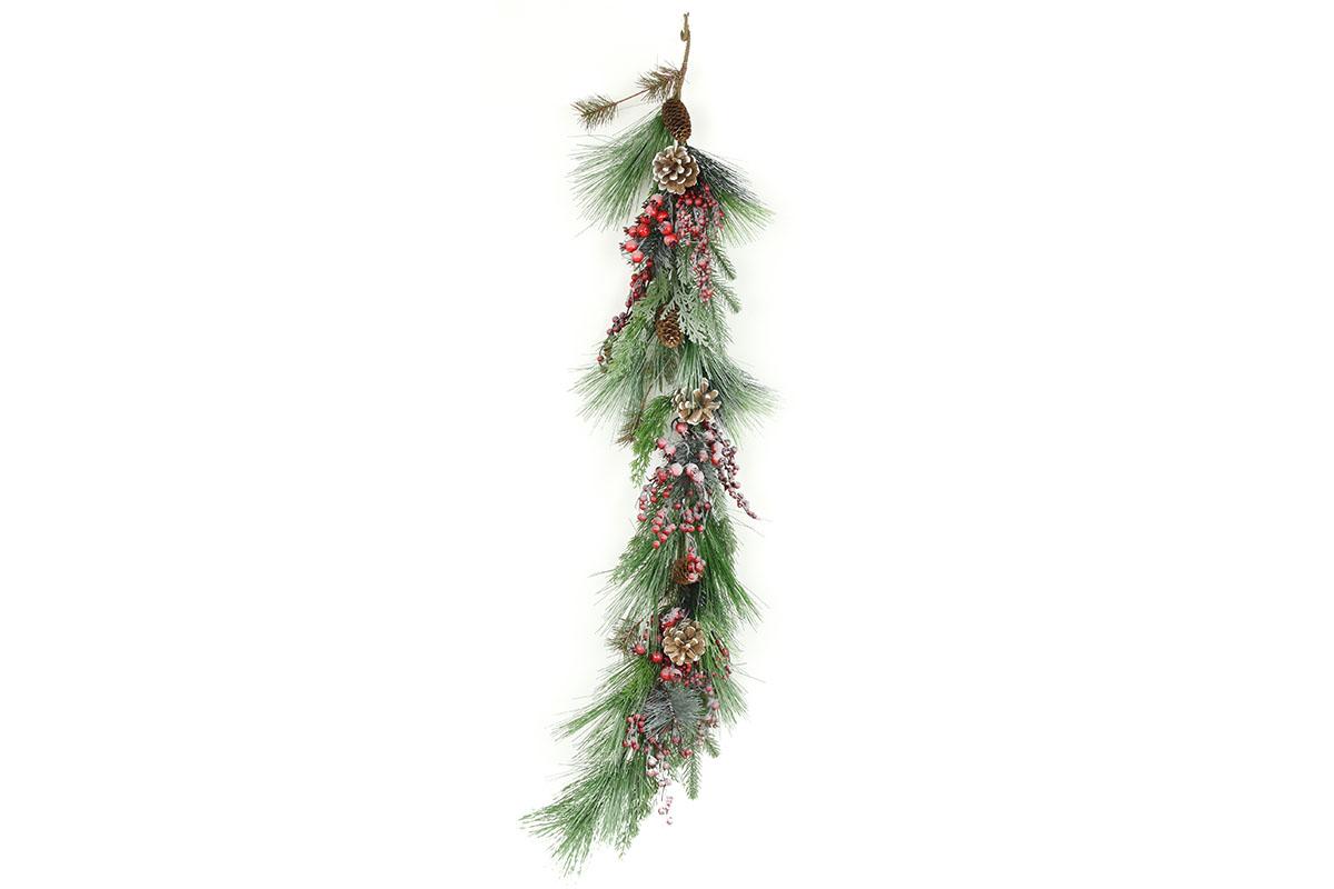 Autronic - Girlanda vánoční ojíněná, umělá dekorace - VP1904