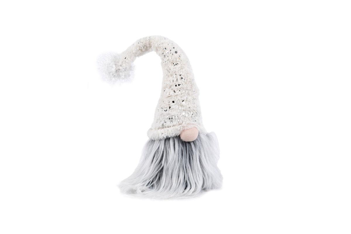 Autronic - Figurka textilní dekorace, barva bílá - VT5930