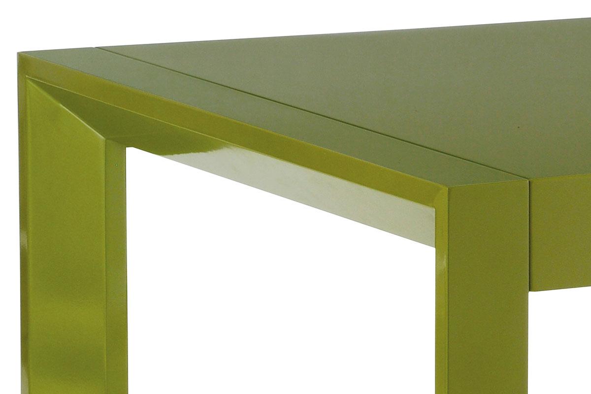 Jídelní stůl rozkl., 160+50x90 cm, vysoký lesk zelený - WD-5829 GRN