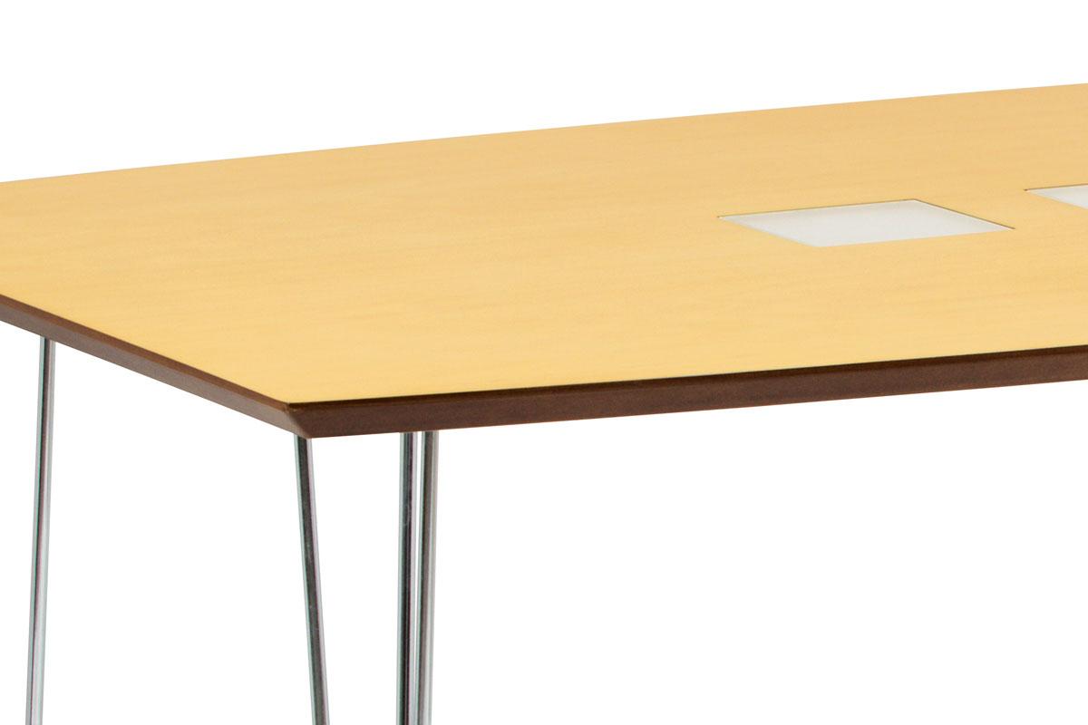 Jídelní stůl 135x80 cm, chrom / dýha natural (WD-5837-2) - WD-5909 NAT