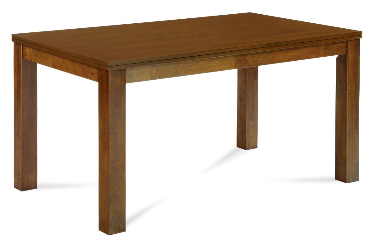 Autronic - Jídelní stůl 150x90 cm, deska MDF a dýha, nohy masiv kaučukovník, moření ořech landhouse - WDT-181 WAL2