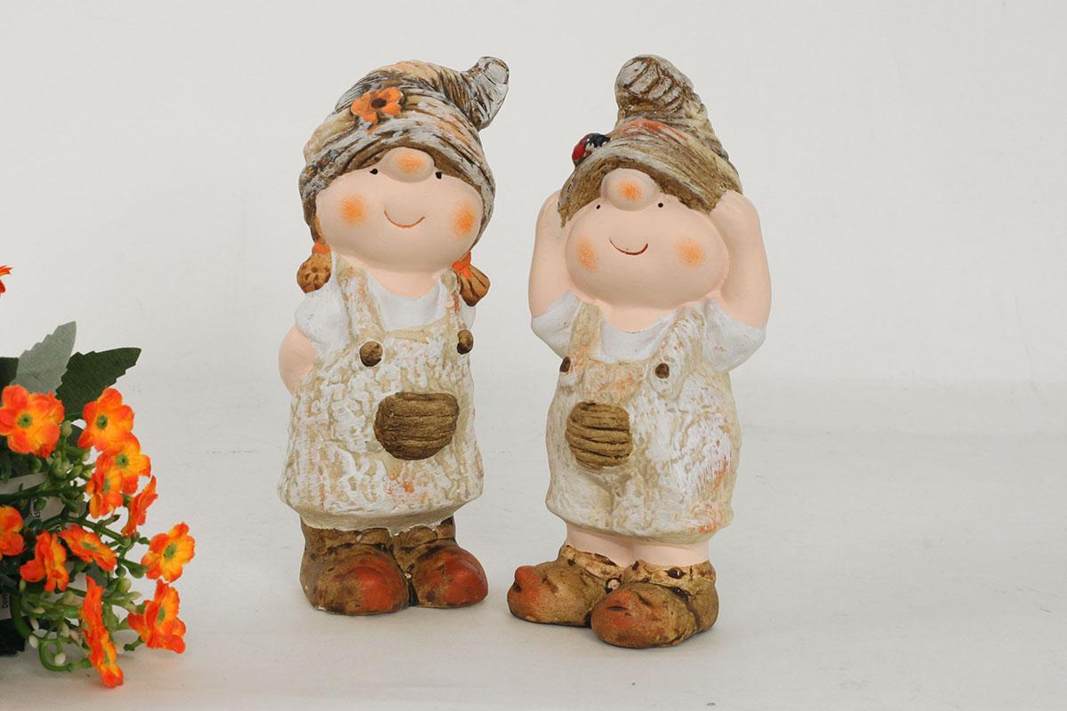 Autronic - Chlapec nebo děvče, MgO zahradní keramická dekorace, cena za 1 kus - WFD5559