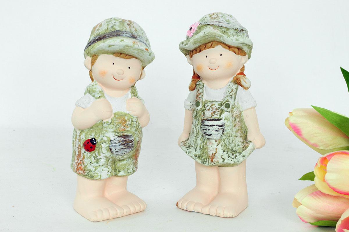 Autronic - Chlapec nebo děvče, MgO zahradní keramická dekorace, cena za 1 kus - WFD5567