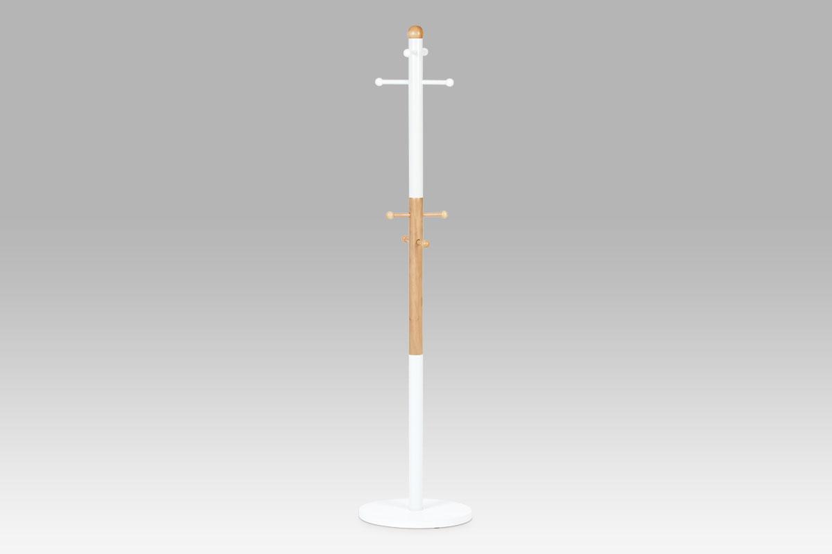 Autronic - Věšák v. 173 cm, bílá / přírodní - WJD8322 WT