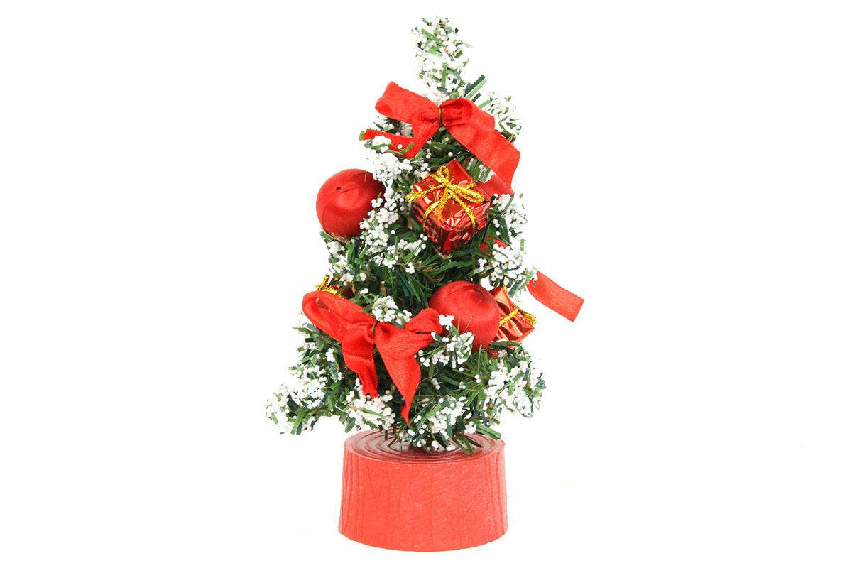 Autronic - Stromeček ozdobený, umělá vánoční dekorace, barva červená - YS20-006
