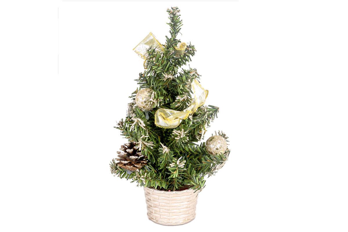 Autronic - Stromeček ozdobený, umělá vánoční dekorace, barva zlatá - YS20-008