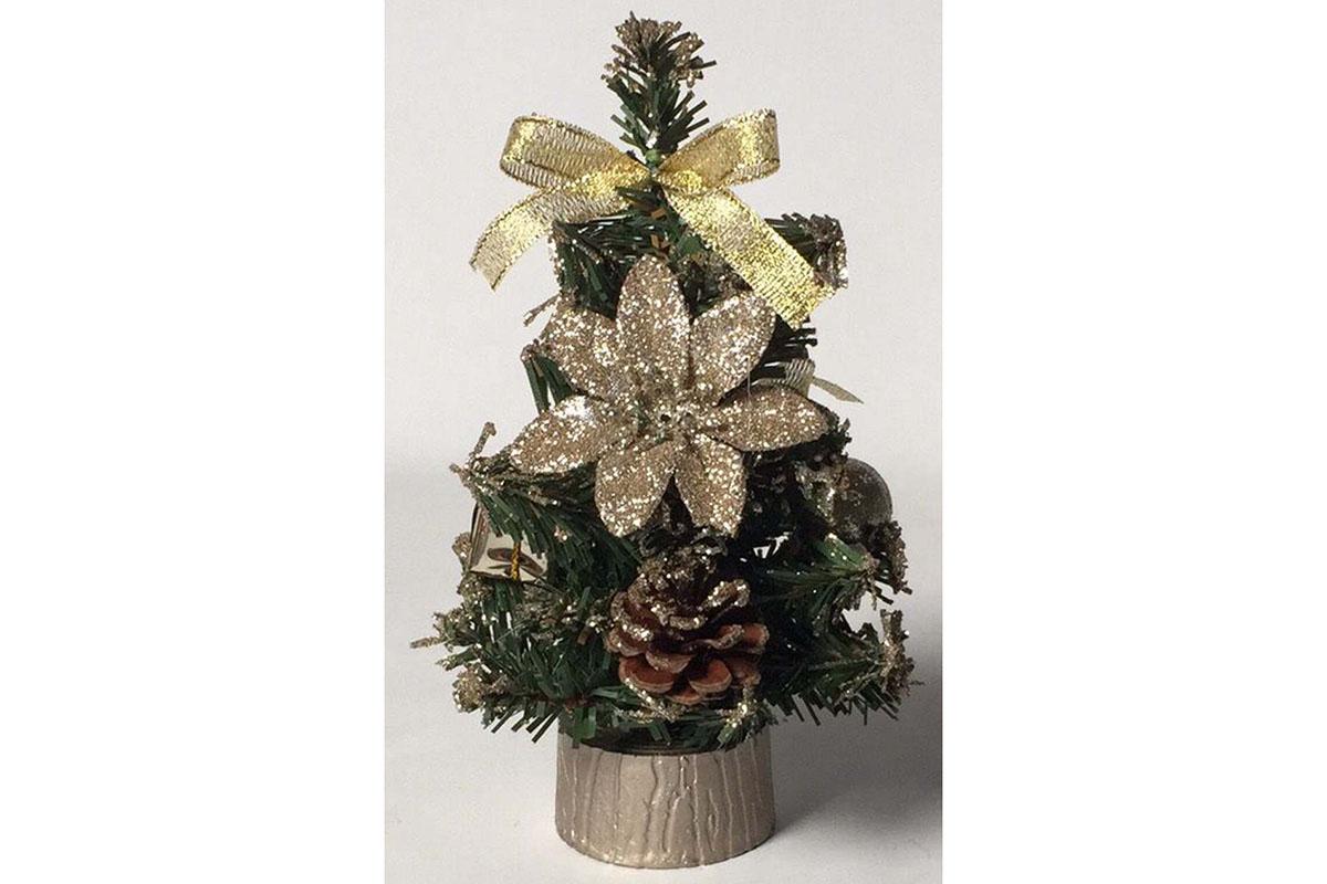 Autronic - Stromeček ozdobený, umělá vánoční dekorace, barva měděná - YS20-009