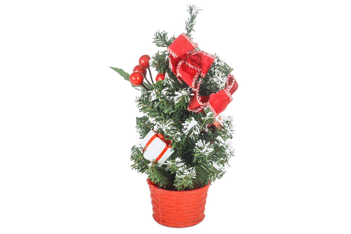 Autronic - Stromeček ozdobený, umělá vánoční dekorace, barva červená - YS20-011