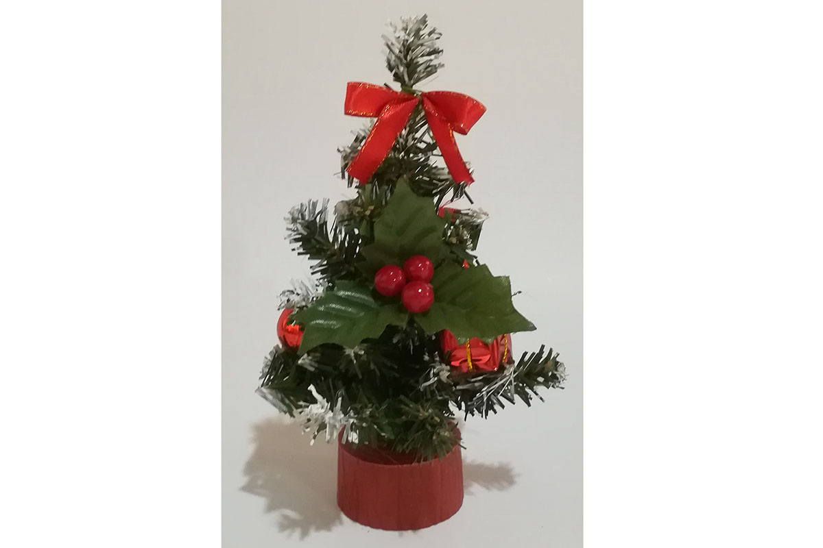 Autronic - Stromeček ozdobený, umělá vánoční dekorace, barva červená - YS20-012