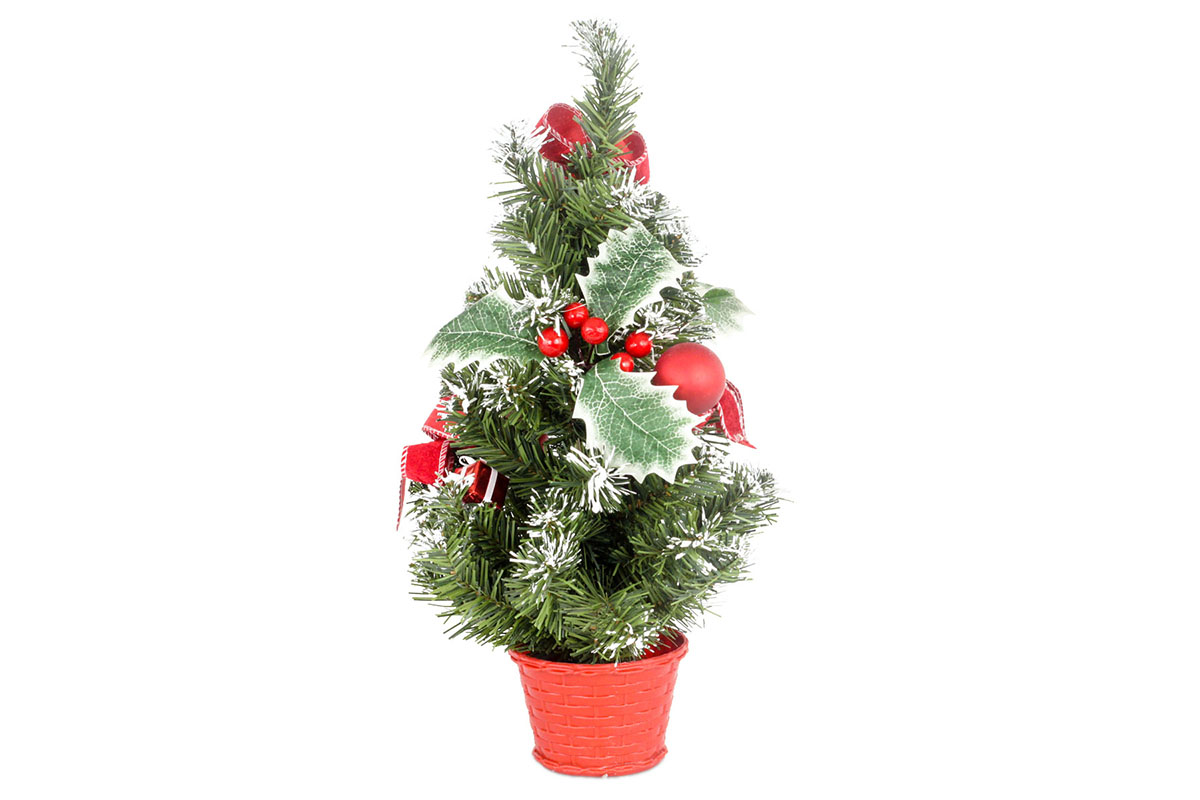 Autronic - Stromeček ozdobený, umělá vánoční dekorace, barva červeno-bílá - YS20-013