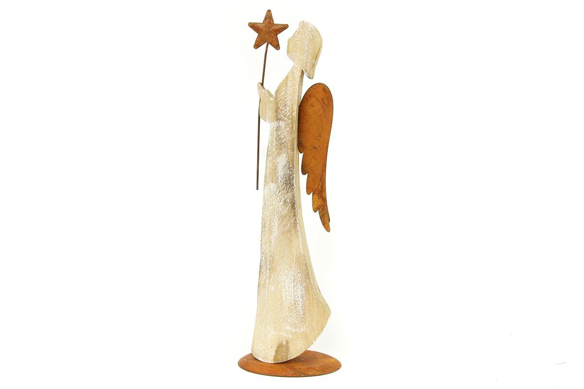 Autronic - Andělíček, dřevěná vánoční dekorace - ZA8615