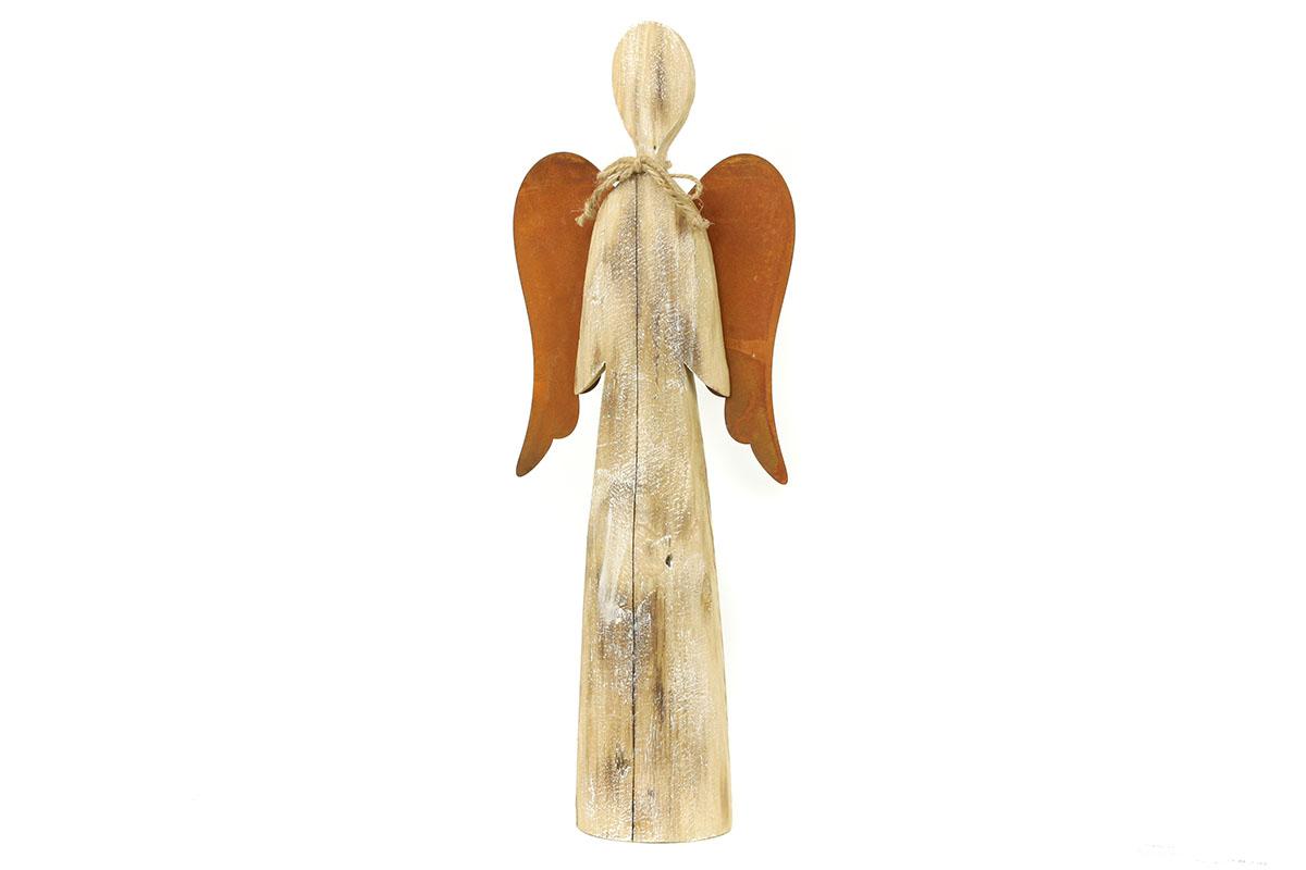 Autronic - Anděl, dřevěná vánoční dekorace - ZA8633