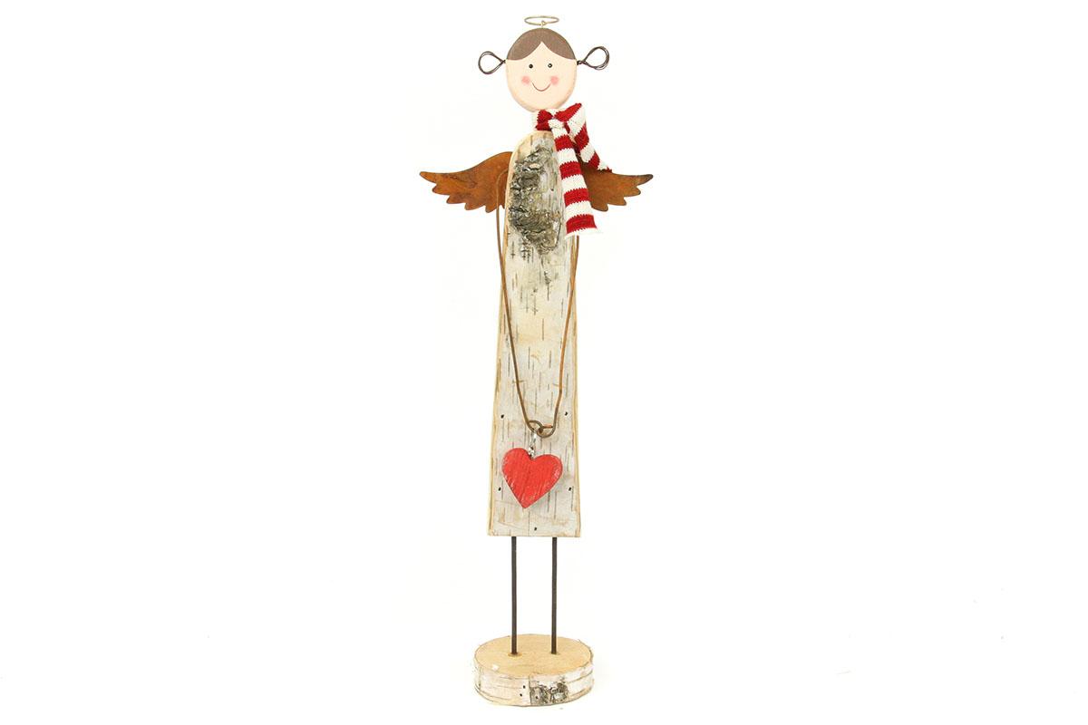 Autronic - Anděl, dřevěná vánoční dekorace - ZA8635