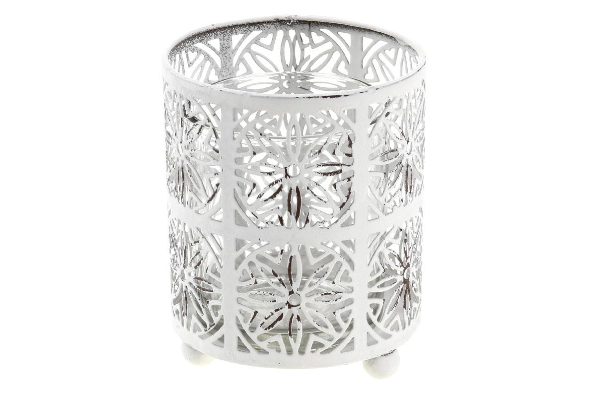 Autronic - Svícen, dekorace z kovu a skla.Jen pro čajové svíčky. - ZA8638