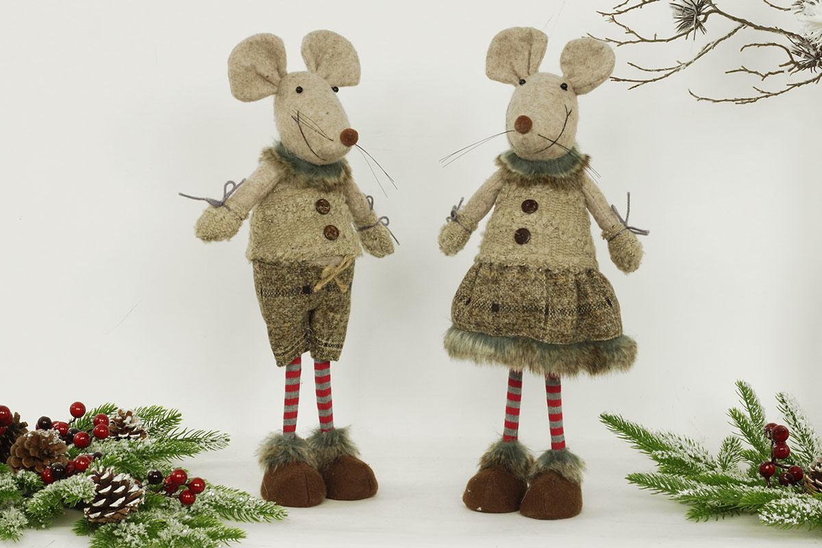 Autronic - Myšák a myška, textilní dekorace, cena za jeden kus - ZM8102