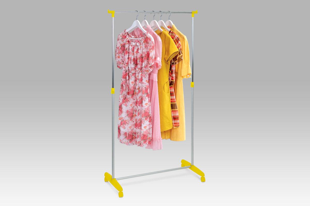 stojan na šaty, žltá, chróm