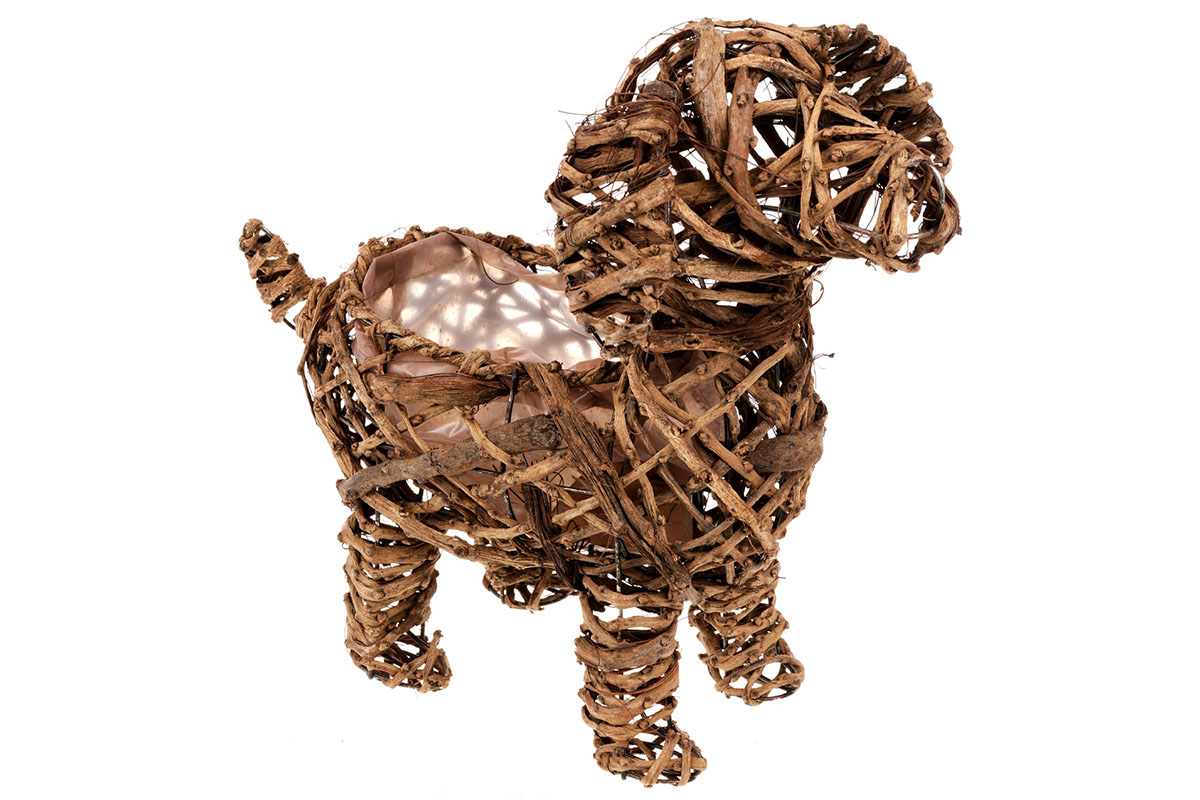 Obal proutěný - tvar psa (obal pr. 10cm).