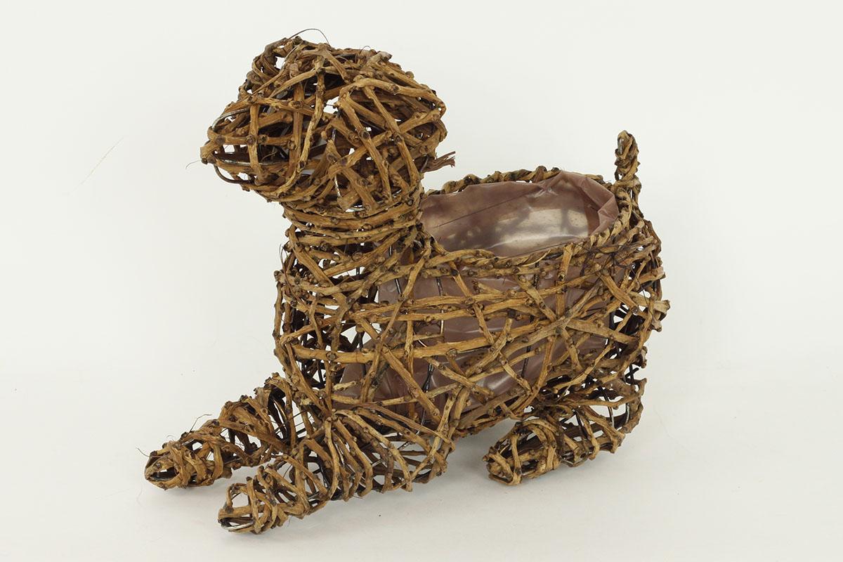 Obal proutěný - tvar psa (pro obal pr. 15cm)