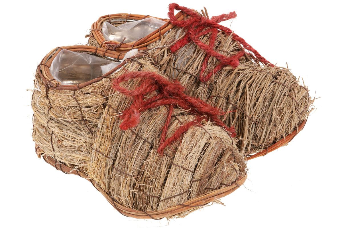 Obal proutěný - duo bota (pro obal pr.10cm).