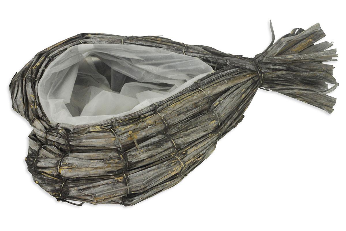 Obal ratanový tvar srdce,vč.igelitové vložky