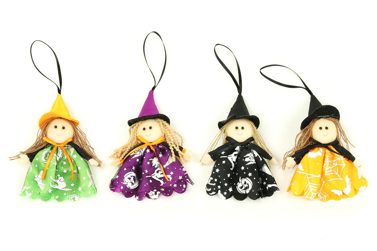 Čarodejnica, textilná dekorácia, 12 ks v sáčku, cena za 1 kus