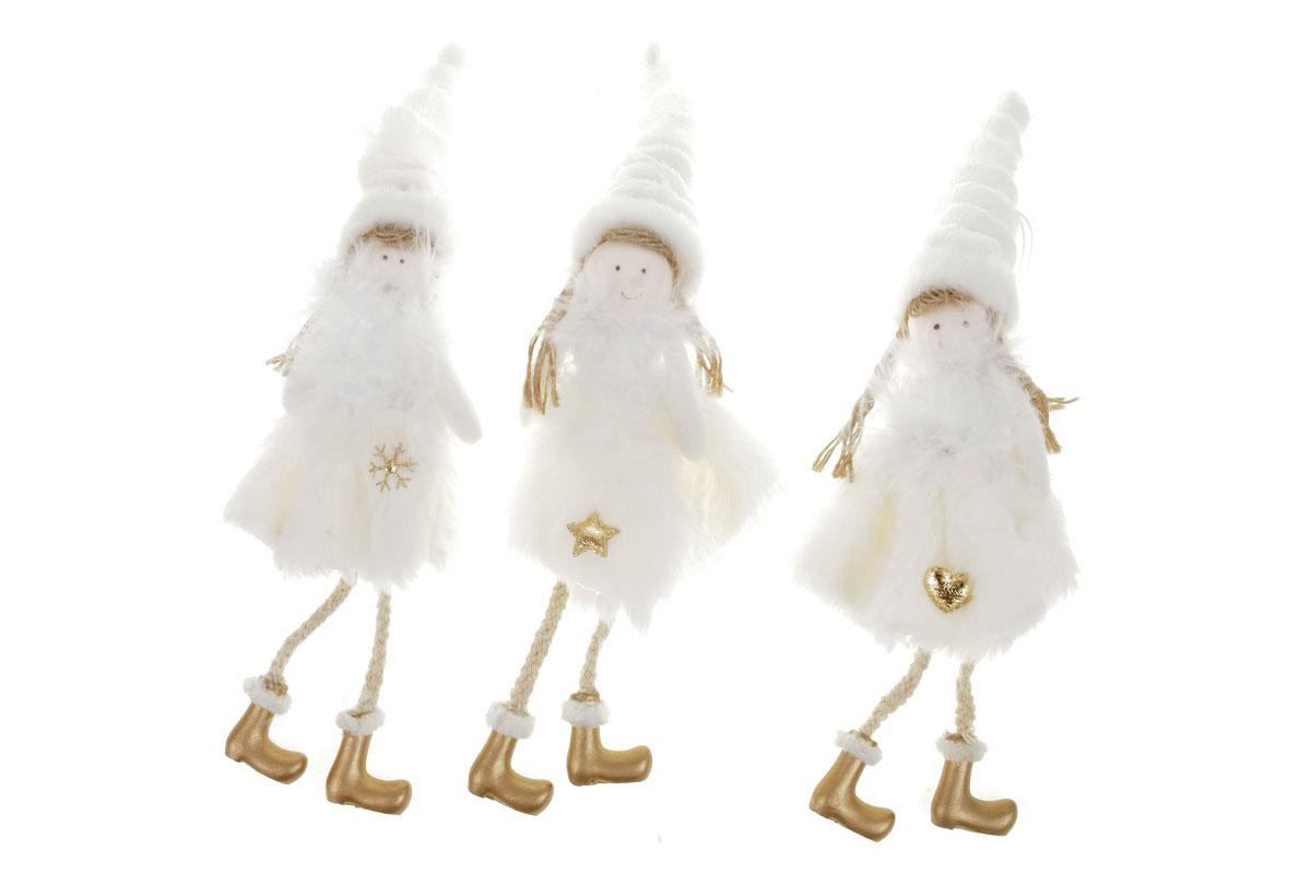Anjelik, vianočná dekorácia na zavesenie, mix 3 druhov, cena za 1 ks