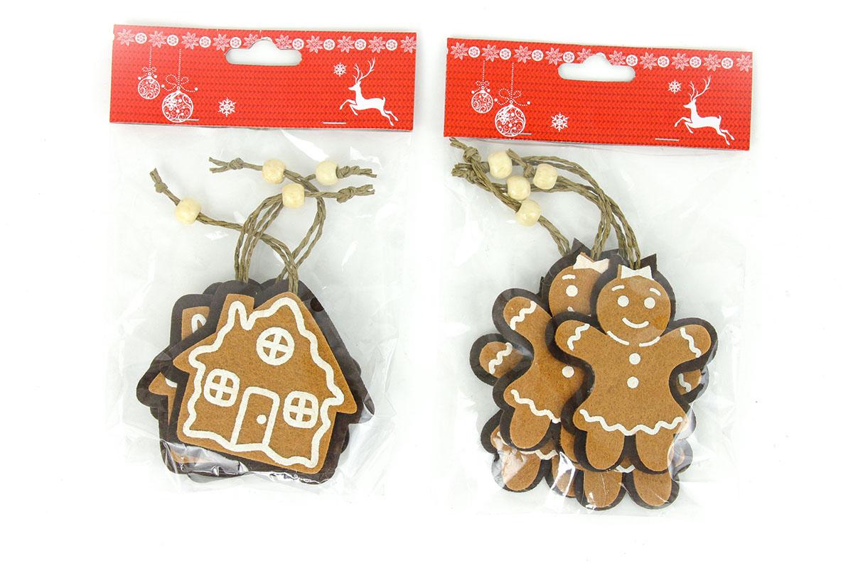 Vianočná plstená dekorácia na zavesenie, 4 kusy v sáčku, cena za 1 sáčok