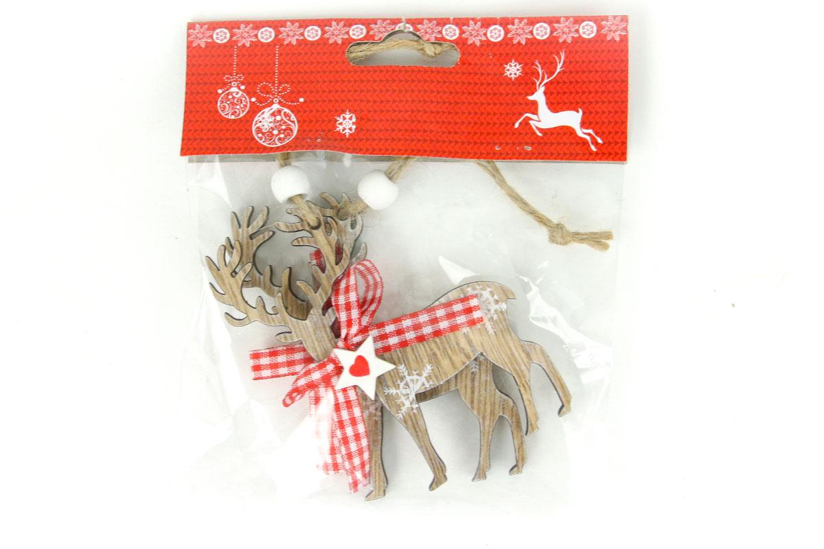 Sob, drevená vianočná dekorácia, 2 kusy v sáčku, cena za 1 sáčok